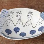 陶器のヤギのボウル