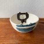 陶器のクマとカエルのbowl