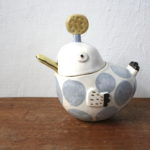 陶器の鳥のシュガーポット