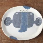 陶器のぞうの大皿
